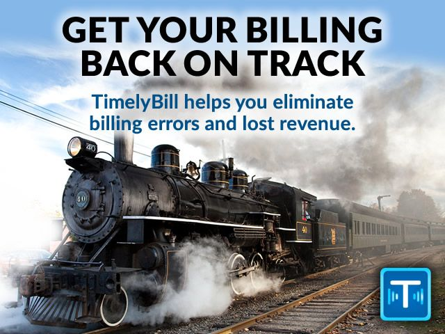 Get Your Billing Back on Track. TimelyBill helps you eliminate billing errors and lost revenue.