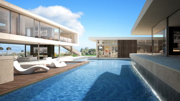 Architectural visualization of luxury house