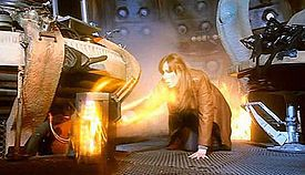 """Journey's End (Doctor Who).JPG    (Wikipedia, Doctor Who, 2008. S4/Ep13 - final episode of season 4. """"Journey's End"""")  (Rose gets the other Doctor, who is part human, and Donna goes into overload as part timelord, so The Doctor wipes her memory.)"""