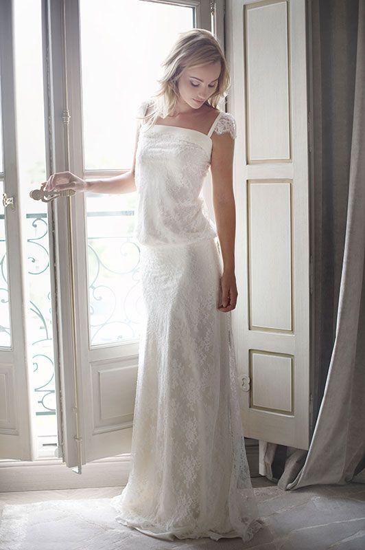 robe de mariée créateur Paris et Lyon - Rose