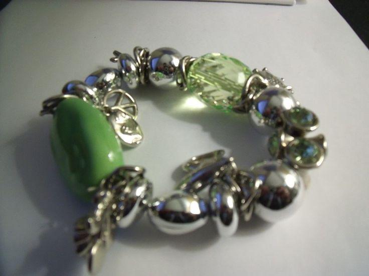 Charm Bracelet Peridot & Silver Tone | eBay