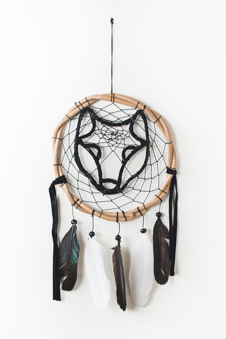 Black Wolf Dreamcatcher