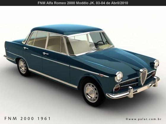 FNM Alfa Romeo 2000 JK - Brasil (1961)