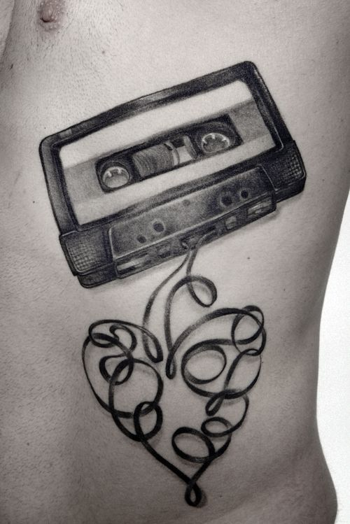 Pin by adelle debora on tattoo.. | Tattoos, Cassette ...
