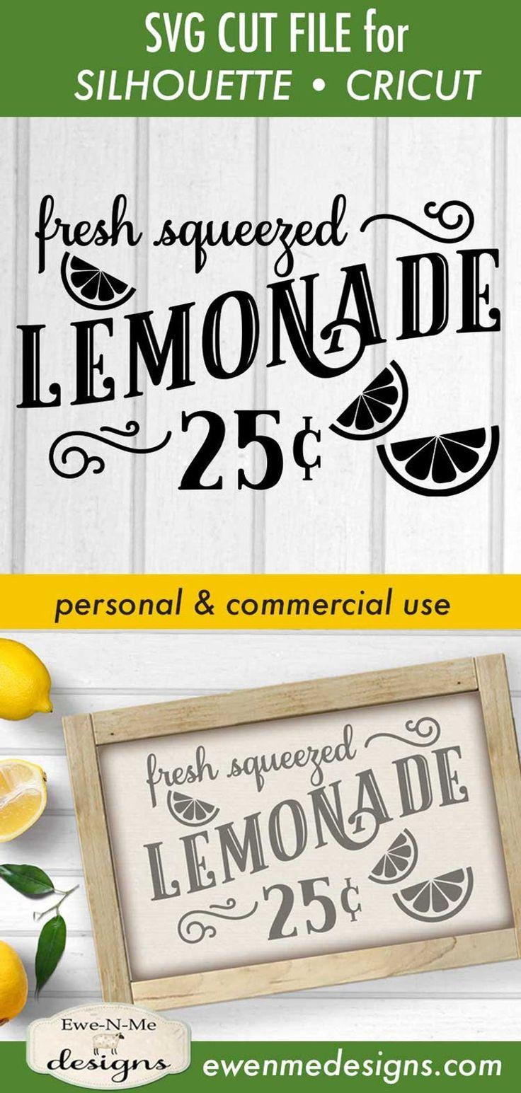 Lemonade SVG File lemonade stand svg Fresh Squeezed