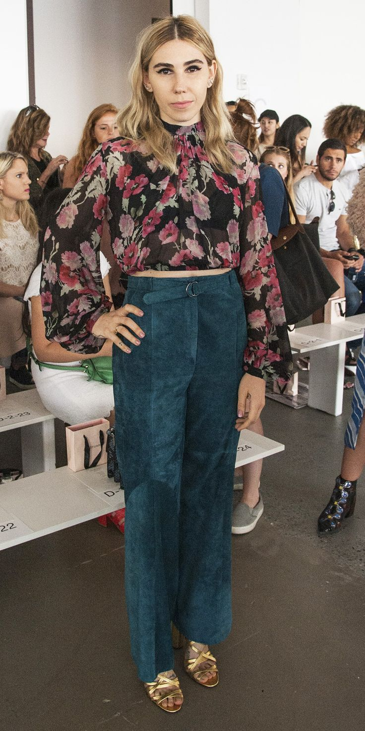 See All the Stylish Celebrities Sitting Front Row During New York Fashion Week - Zosia Mamet  from InStyle.com