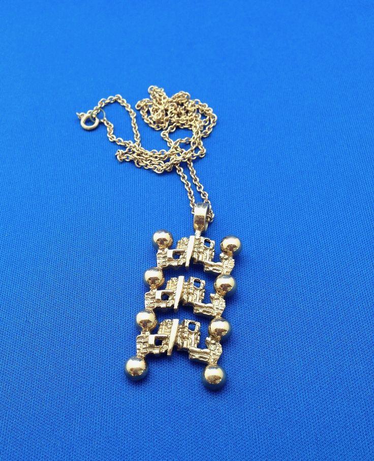 #forsale > Pertti Peuri (FI), vintage modernist fire gilt bronze necklace, 1960s. #finland | finlandjewelry.com