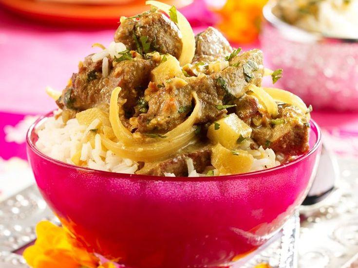 Découvrez la recette Curry d'agneau sur cuisineactuelle.fr.