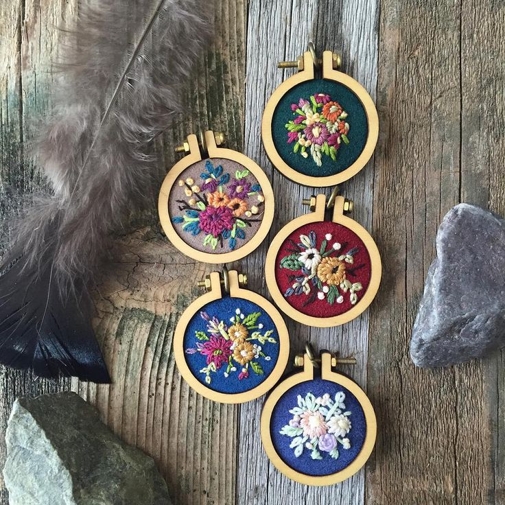 All of these lovely florals are still available in my etsy shop!  Mini hoops from my favorite magical  @dandelyne!