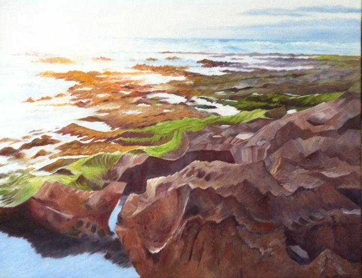 "Balnarring back beach. Oil on canvas 20x16"""