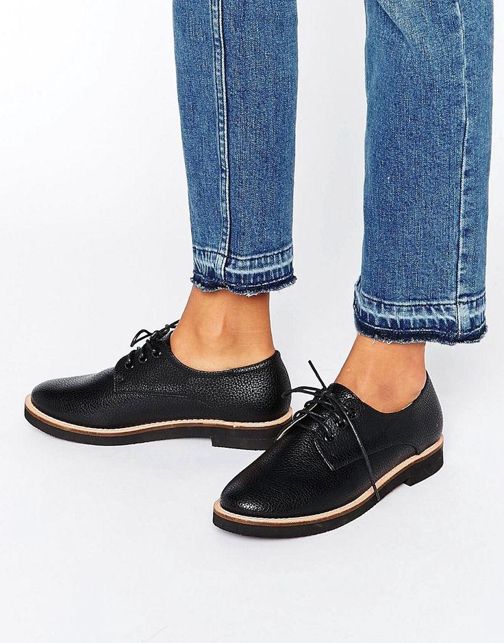 Image 1 ofLondon Rebel Lace Up Flat Brogue Shoes