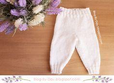 Blog By Day: Calça de Bebê em Tricô :: Receita e Vídeo Aula