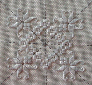 i love working on a grid like this. dit link heerlik op met knipsel-kuns. Ricamo Hardanger