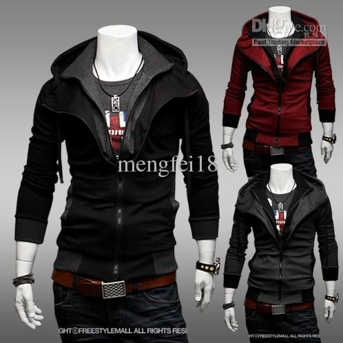 Wholesale Free shipping -NEW Assassin's Creed Desmond Style Velour Hoodie D1254, Free shipping, $35.02/Piece | DHgate Mobile