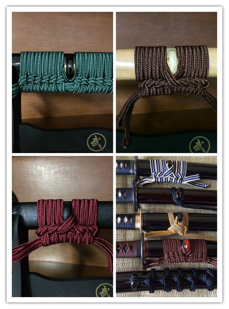 Sageo knots for katanas.