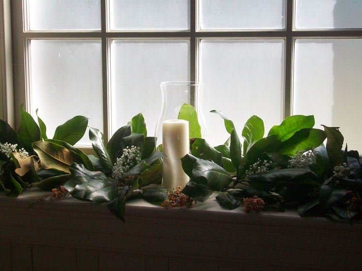 172 best all saints flower guild images on pinterest saints church windows decorated w fresh magnolia greens and a touch of babies breath orange junglespirit Image collections