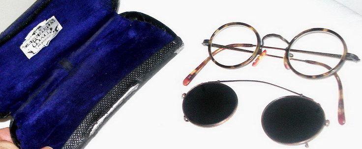 TRUE VINTAGE 80s OLIVER PEOPLES mp-8 LA japan EYEGLASSES CLIP ON shades W CASE