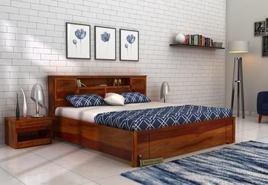 Get Ferguson Hydraulic Bed with Storage available in king size with honey finish. The modern bed with hydraulic space makes storage very convenient and adds grace to the bedroom interior. Buy Hydraulic Storage Bed Online in #Bangalore #Noida #Jaipur #Goa