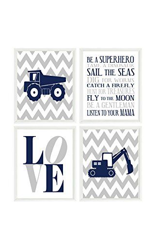 Nursery Wall Art, Construction Nursery, Dump Truck Print, Baby Boy Nursery, Boy Room Prints, Boy Art, Trucks, Chevron, Backhoe, Toddler Boy, Kids Art, Boy Room Decor, Boy Rules Print, LOVE. Nursery Wall Art, Construction Nursery, Dump Truck Print, Baby Boy Nursery, Boy Room Prints, Boy Art, Trucks, Chevron, Backhoe, Toddler Boy, Kids Art, Boy Room Decor, Boy Rules Print, LOVE Set of 4 Prints (Frames not included - PRINTS ONLY) - The size you choose is the size of each individual print You...