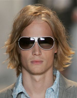 Men's Hairstyles - Long Hairstyles for Men - Men With Long Hair. Longer hair for men has become a mainstay in men's style. It is old world meets modern man. It is classy and distinguished as seen here.: Windblown