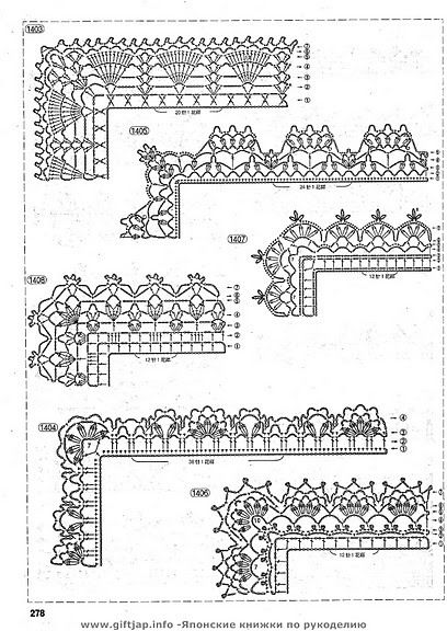 Edgings diagrams only, page #01  #@Af's Collection