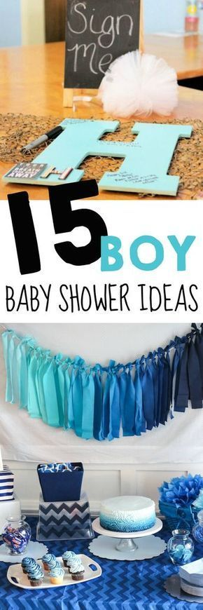 baby shower ideas for boys / 15 boy baby shower ideas