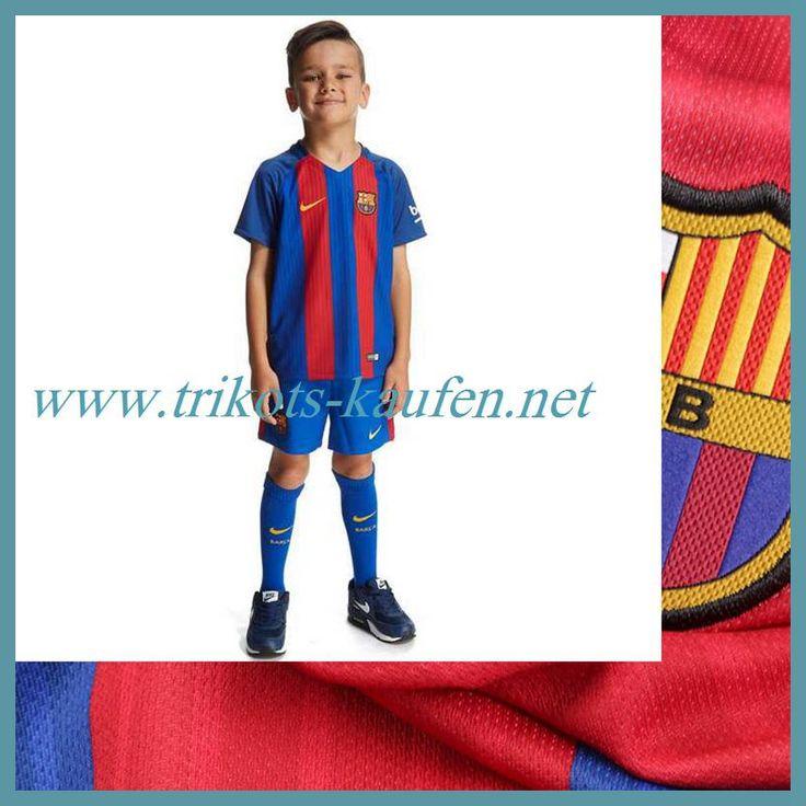 Die Neuen FC Barcelona Trikot Kinder Heim Rot/Blau 2016 2017 Sale