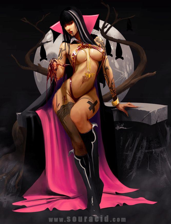 Vampirella by SourAcid.deviantart.com on @deviantART