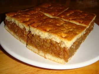 Házi almás pite recept tejjel
