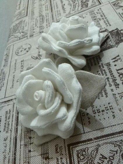 Rose di lino <3 Lore Cucito Creativo