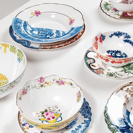 Hybrid Collection by CTRLZAK studio for SelettiBones China, Traditional Design, Plates, Vintage Dishes, Hybrid Collection, Ctrlzak Studios, Westerns Design, Teas Sets, Design Studios