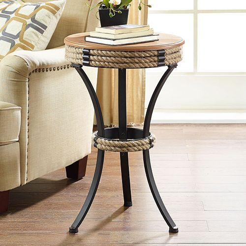 Linon Rope Accent Table