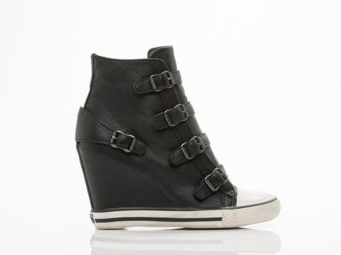 Ash United Wedge Sneaker in Black at Solestruck.com