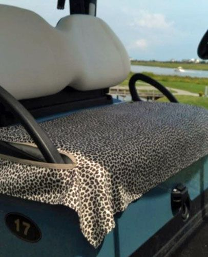 Golf Chic Bags Ladies Golf Cart Seat Covers - Leopard
