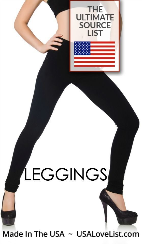 Pin for later! Links to the best American made leggings!