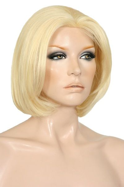 Wigs Online 100% Human Hair Full Mono Top Wig. A truly elegant modern style for the stylish woman. A mono top is a fine mesh situated in the crown of the wig giving you the realistic appearance of the hair coming out of the scalp similar to your own hair and also allows you more options when it comes to styling as you are able to change the part area to suit your face. Length: 13 Inches / 330 mm From Crown To Tips.    Colour 613 - Pale Golden Blonde