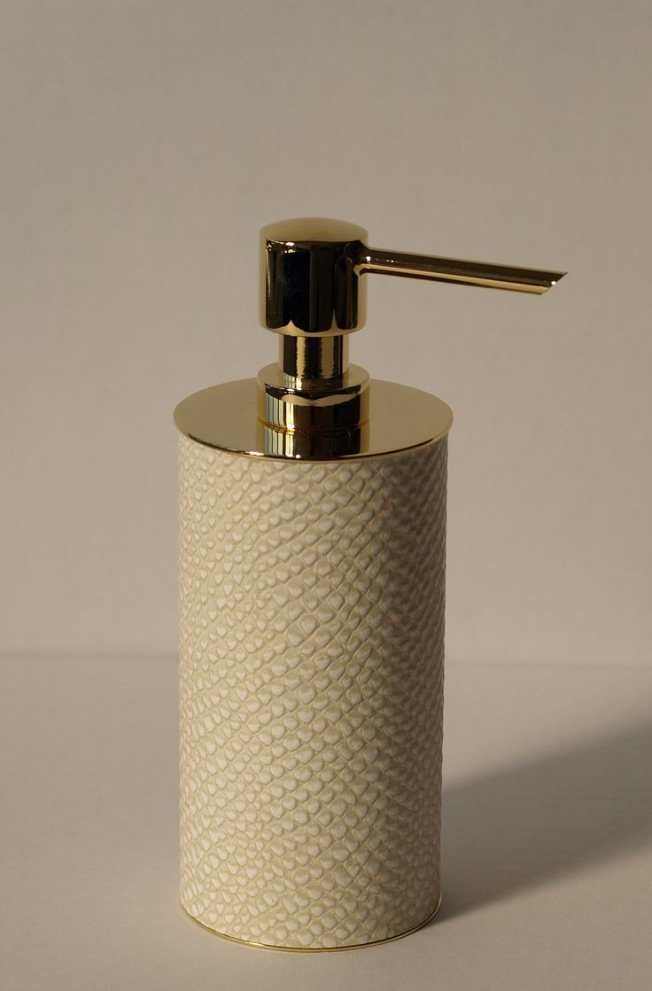 Soap Dispenser Clad In Python Print Leather The Soap Pump