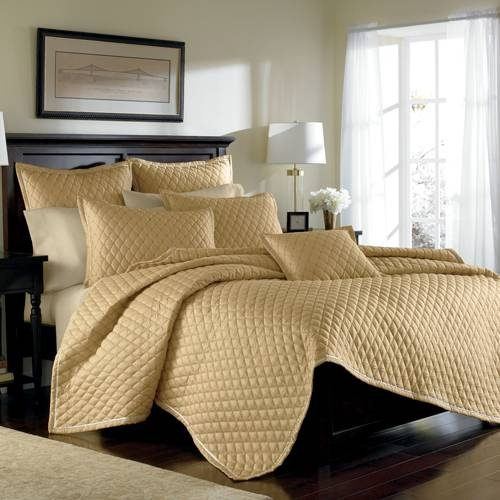 Luxury Gold Bedding By Croscill A Luxurious Quilted