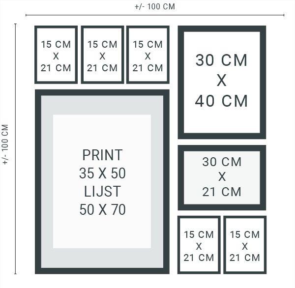 Lees hier hoe je je eigen muurcollage kan maken en wat je daar voor nodig hebt - Download gratis stramienen om nog makkelijker een muurcollage te maken!