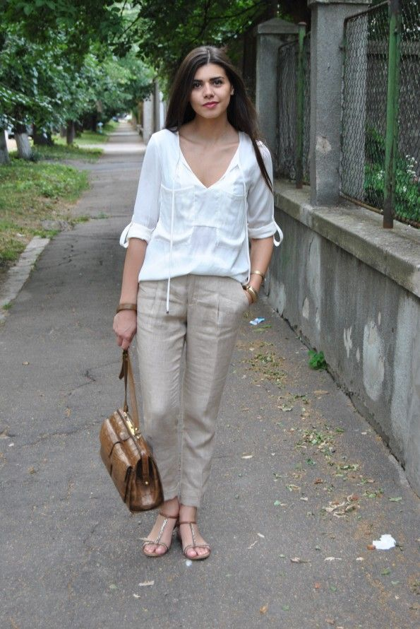 How To Wear Linen Pants Women