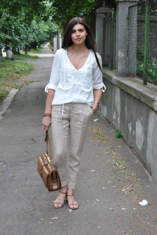 How To Wear Linen Pants Women | wardrobe | Pinterest | Linen pants ...