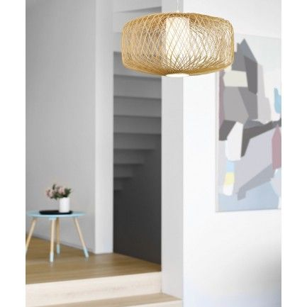 Florida 450mm Wicker Pendant in Natural