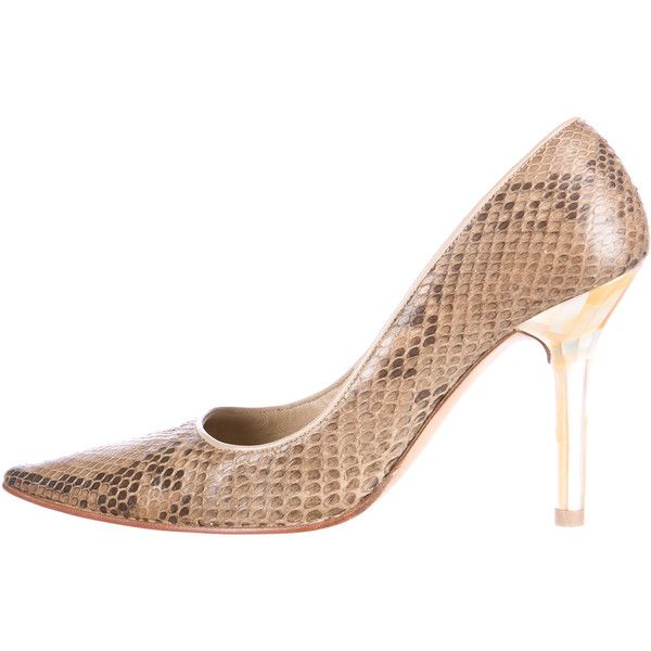Valentino Snakeskin Peep-Toe Pumps cheap sale low shipping outlet footlocker finishline popular online factory outlet for sale sHpKclpH