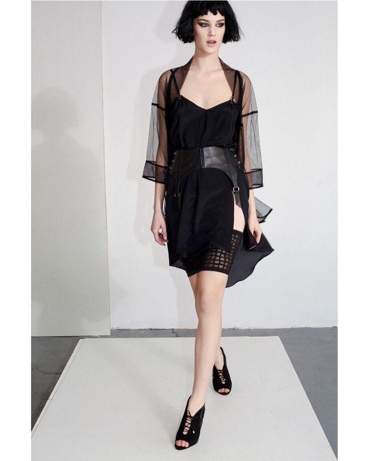Shop the pieces: Cream Long Top http://www.murmurstore.com/product/cream-long-top/   Maze Skirt http://www.murmurstore.com/product/maze-skirt/