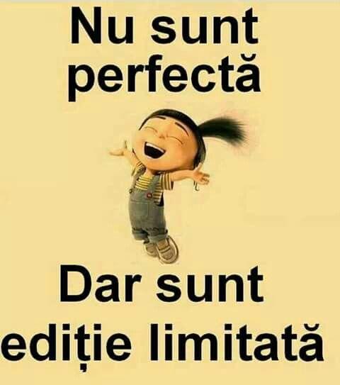 Nu sunt perfectă