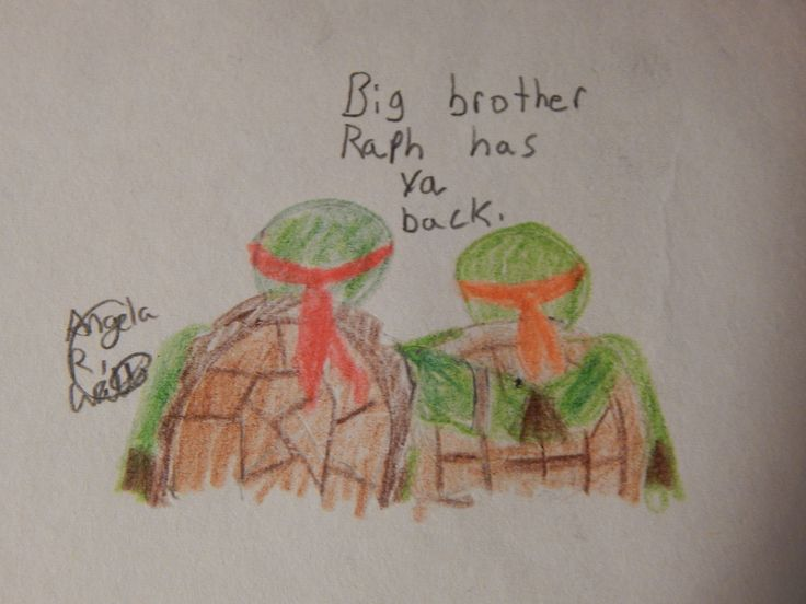 Big Brother Raph Has Ya Back by Angela R. Watts. TMNT fanart. :)