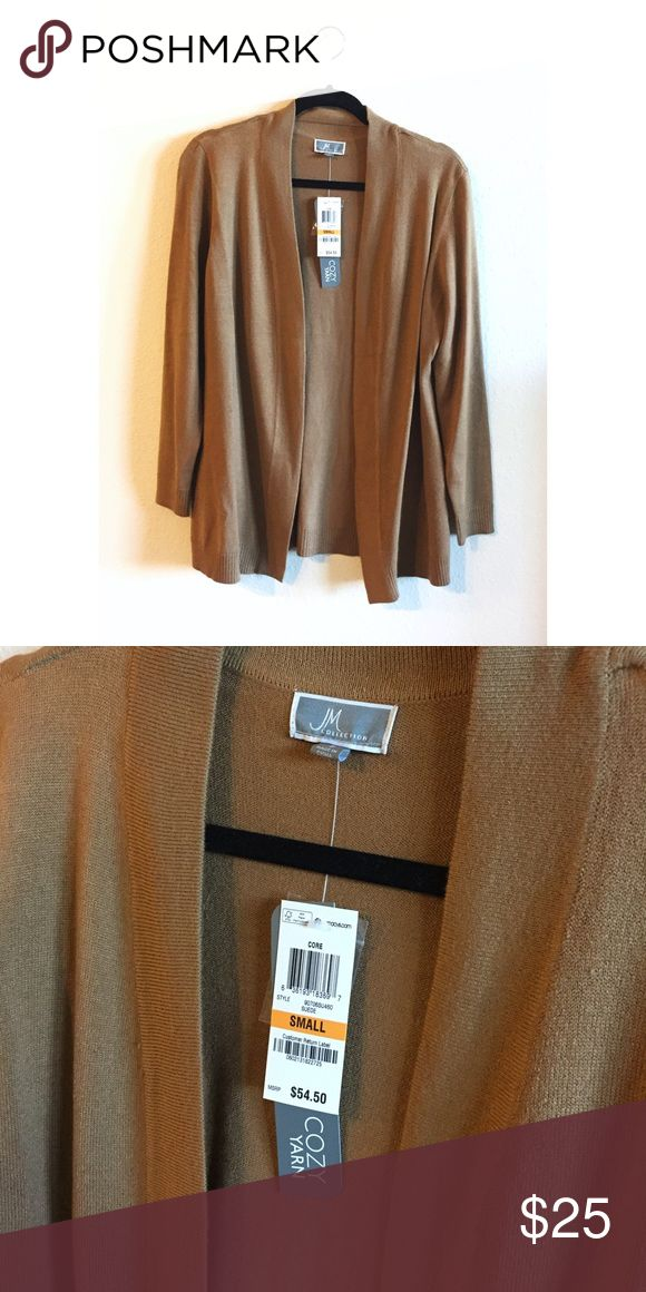 NWT! Camel Cardigan Brand New! This is a great staple for any closet. JM Collection Sweaters Cardigans
