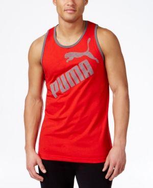 Puma Men's Tank Top - Red XXL