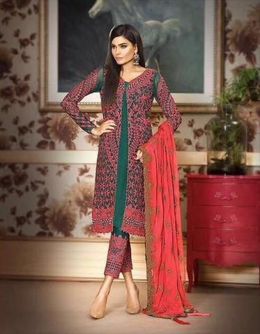 b9470b64011f ASIM JOFA CHIFFON SUIT - Replica - Unstitched. ASIM JOFA CHIFFON SUIT -  Replica - Unstitched Fancy Wedding Dresses