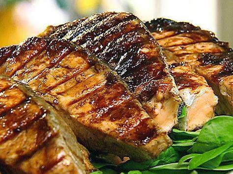 resep ikan salmon panggang saus lemon